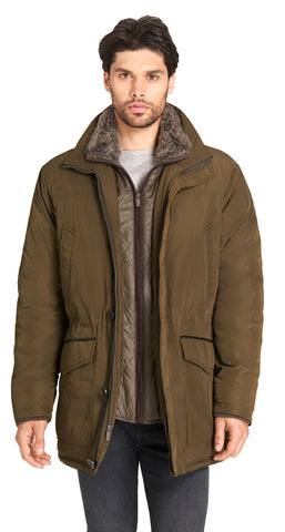 Men's Rugged Oxford Layered Parka