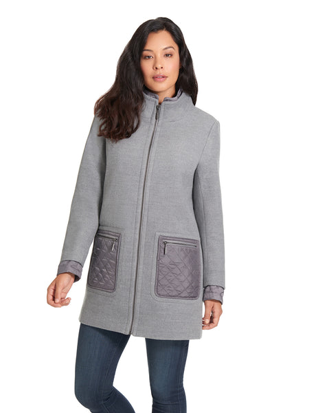 Women's Faux Wool Coat