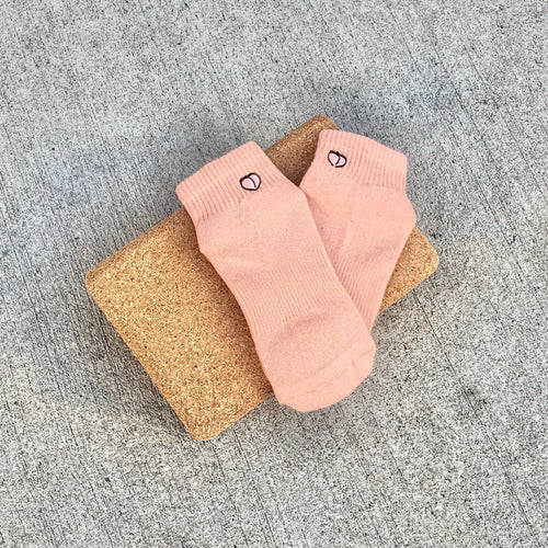 The Harlow Sock Just Peachy, Grip Socks Lucky Honey Grip Socks