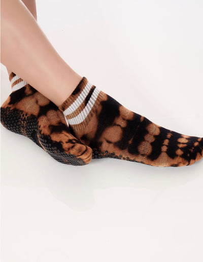 LIMITED EDITION Tiger Tie Dye Boyfriend Sock - Lucky Honey