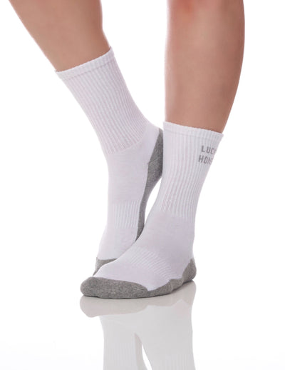 The Tube Sock White/Heather Grey - Lucky Honey