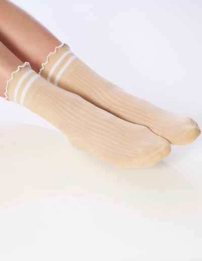 The Ruffle Sock Tan - Lucky Honey