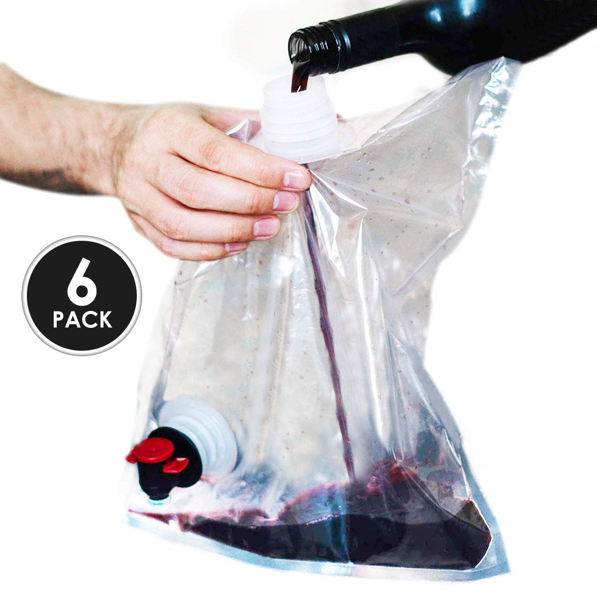 FILL IT!' Wine Baggies for use in 'BAG IT!' Wine Purse Bag (6 Pack)