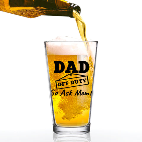 Dad Established 2019 Funny Beer Glass -16 oz quality glass - Beer Glass for the Best Dad Ever - New Dad Beer Glass Gift - Affordable Fathers Day Beer Gifts for Dads or Stepdad