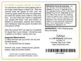 Riesling Wine Flour / Wine Powder made 100% from Grape Skins and Seeds grown in NY Wine Region- Gluten Free Flour Rich in Antioxidants, Protein & Fiber- Use to Add Flavor, Nutrition and Color