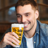To Dad From the Reasons You Drink Funny Dad Beer Glass -16 oz USA Glass - Father's Day Beer Glass for the Best Dad Ever- New Dad Beer Glass Gift- Affordable Fathers Day Beer Gifts for Dads or Stepdad