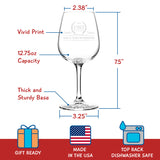 Vintage Edition Birthday Wine Glass for Men and Women (35th Anniversary) 12 oz, Elegant Happy Birthday Wine Glasses for Red or White Wine | Classic Birthday Gift, Reunion Gift for Him or Her