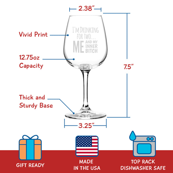 Drinking for Two... - 12.75 oz. - Made in USA