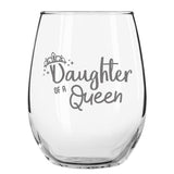 Mother Daughter Wine Glasses- Queen and Princess Wine Glass Set- Gift for Mom from Daughter | Gift for Daughter From Mom- Great for Birthday, Wedding, Mom Gift- Mom Present- Made in USA