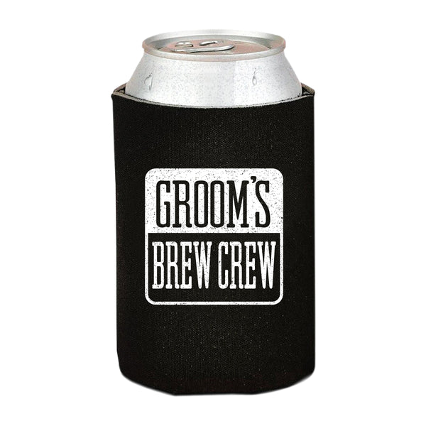 13 Pack Groom and Groomsman Gifts for Wedding Party | Insulating Can Coolers Neoprene, Novelty Beer Holders | Bachelor Party, Groomsmen Proposal, Backyard, Outdoor and Camping Use | Beer Accessories
