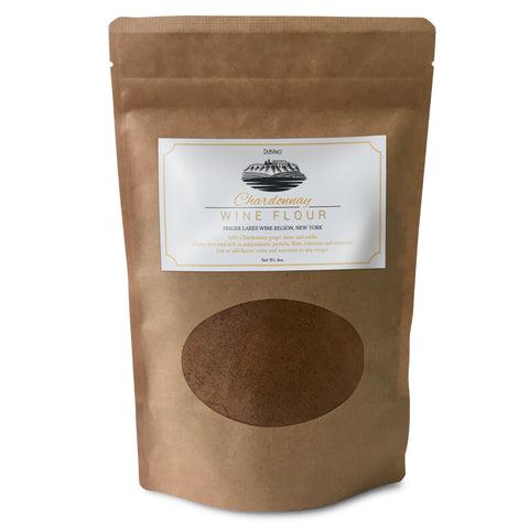 Chardonnay Wine Flour / Wine Powder made 100% from Grape Skins and Seeds grown in NY Wine Region- Gluten Free Flour Rich in Antioxidants, Protein & Fiber- Use to Add Flavor, Nutrition and Color
