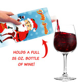 White Elephant and Dirty Santa Wine to Go Plastic Foldable, Portable Bottle Flasks (2-Pack)- Funny, Novelty Christmas Party Drink Carriers – Naughty Holiday Gag Gifts and Accessories (750 ml ea.)