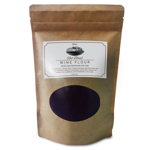 Red Blend Wine Flour / Wine Powder made 100% from Grape Skins and Seeds grown in NY Wine Region- Gluten Free Flour Rich in Antioxidants, Protein & Fiber- Use to Add Flavor, Nutrition and Color