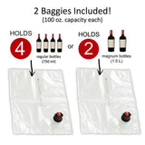 'BAG IT!' Neoprene Wine Purse Bag (Red) + 2 'FILL IT!' Refreshment Baggies