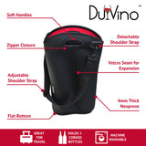 DEUCE 2 Bottle Wine Bag - Insulated Neoprene