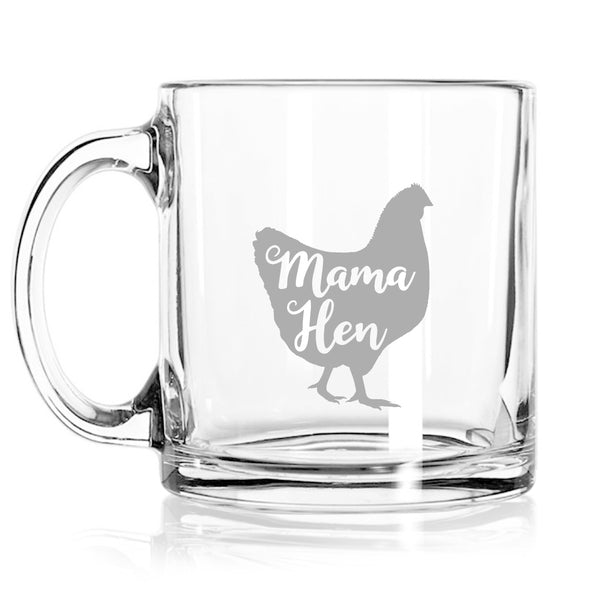 Mama Hen Little Chick Coffee Mugs (Set of 2) | Cute coffee Glasses Set for Mother Daughter Matching Gifts Idea | Great for Birthday, Mother's Day Gift for Mom From Daughter