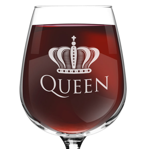 Queen Funny Wine Glass - 12.75 oz. - Made in USA