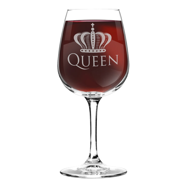 King and Queen Wine Glass (Set of 2) - 12.75 oz - Made in USA