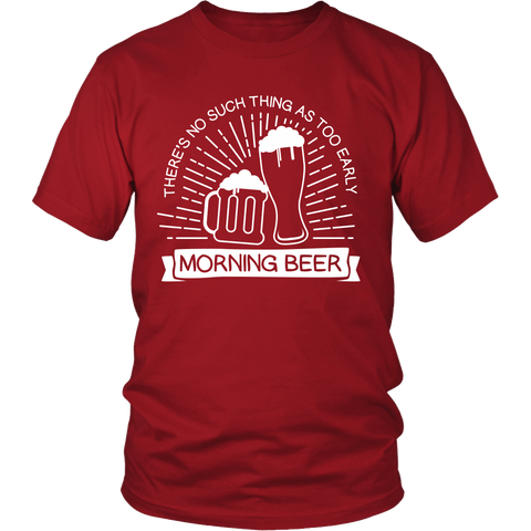 Morning Beer - Funny Beer Shirt for Men