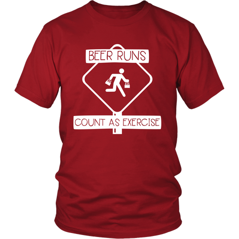 Beer Runs Count as Exercise - Funny Beer Shirt for Men