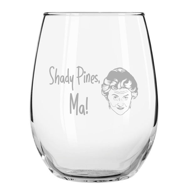 Dorothy and Sophia Golden Girls Inspired Stemless Wine Glass Set of 2 (15 oz) | Cute Glasses Set for Mother Daughter Matching Gifts Idea | Great for Birthday, Mother's Day Gift for Mom From Daughter