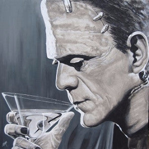 Mike Bell Print: Contemplative Cocktail