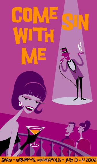 SHAG print: Come Sin With Me