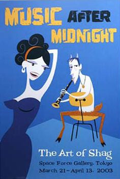 SHAG print: Music After Midnight