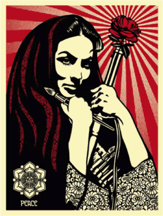 Obey: Shepard Fairey, Revolutionary Woman with Brush