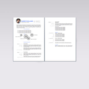 Resume Template Modern Blue
