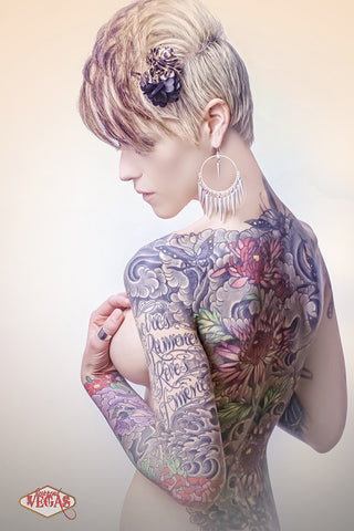 12X18 Poster - Tattoo Model Sarah Maillet