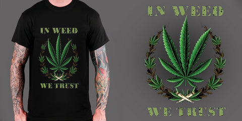"Men's ""IN WEED WE TRUST"" T-SHIRT"