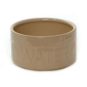 Cane Ceramic Lettered Dog Bowls