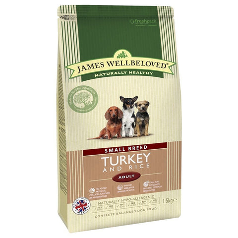 JAMES WELLBELOVED ADULT SMALL BREED TURKEY AND RICE DRY MIX 1.5 KG