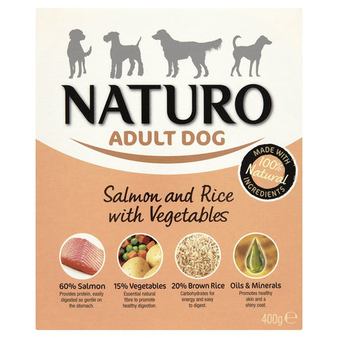 NATURO ADULT SALMON & RICE 400G