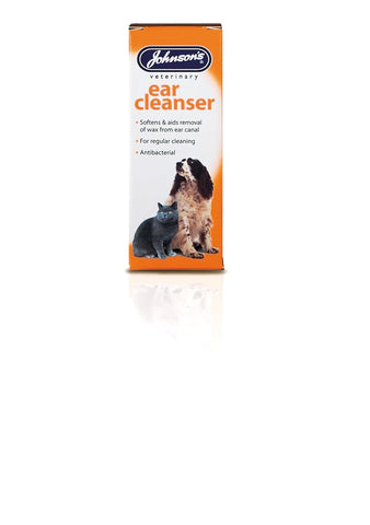 JOHNSONS EAR WAX ANTIBACTERIA CLEANSER CATS & DOGS 40ML