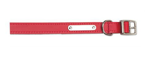 Ancol S1 Sewn Lined Dog Collar Red 12""