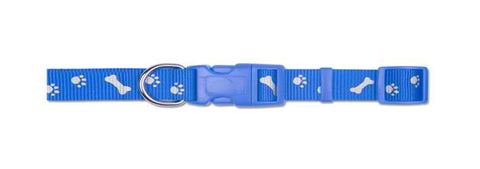 PAW 'N' BONE REFLECT COLLAR BLUE LARGE