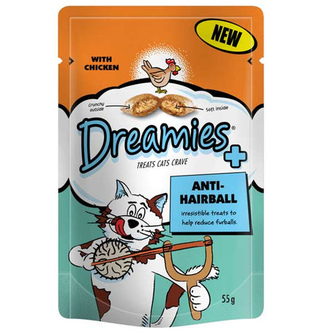 Dreamies Anti Hairball Cat Pouches