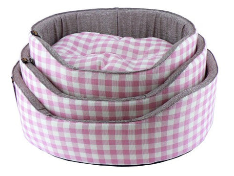 Athenia Pink Check  Bed 20""