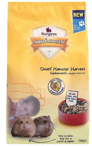 BURGESS DWARF HAMSTER FOOD 700G