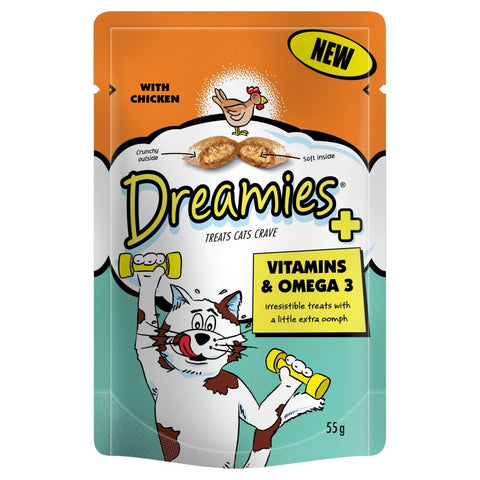 Dreamies Plus Vitamins Cat Pouches