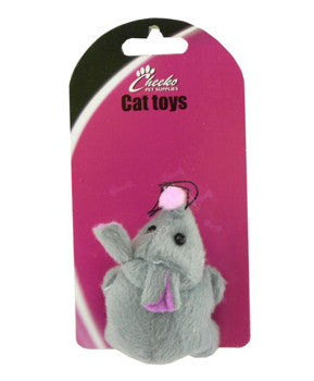 CHEEKO VIBRATE MOUSE CAT TOY 7.5CM