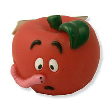 CHEEKO VINYL APPLE DOG TOY