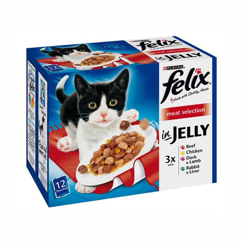 Felix Pouch Meat in Jelly Selection