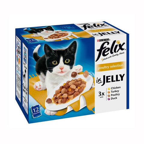Felix Pouch Poultry in Jelly Selection