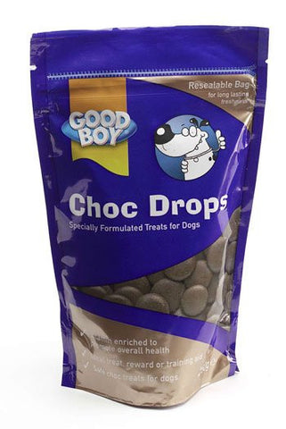 GOOD BOY CHOC DROPS 250GM POUCH PACK