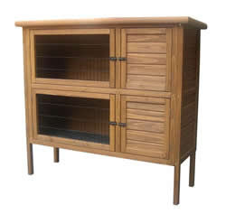 DOUBLE HUTCH 124X45X114CM