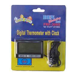 Digital thermometer with clock,