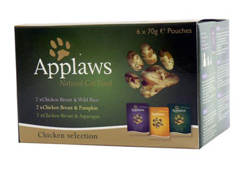 APPLAWS CHICKEN POUCH MULTIPACK 6X70G